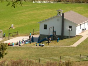 An Amish school house in Holmes County, Ohio.